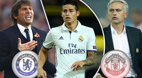 San don James Rodriguez, Chelsea thach thuc Man United - Anh 1