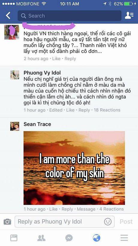 Phuong Vy idol dap tra khi bi cho la sinh ngoai, thich lay chong tay - Anh 1
