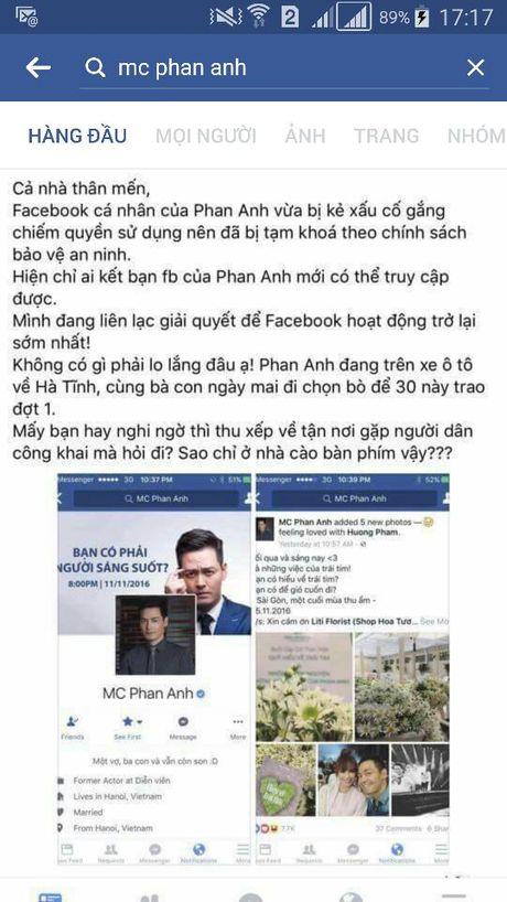 Facebook 1 trieu nguoi theo doi cua MC Phan Anh bat ngo bi khoa - Anh 2