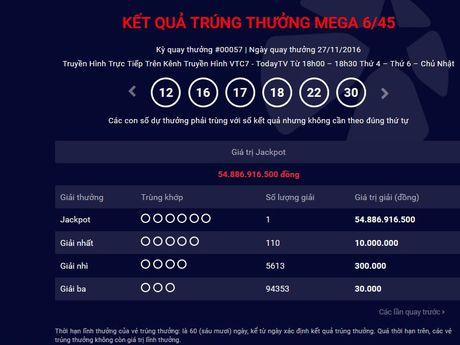 Xo so dien toan Mega 6/45 Vietlott them nguoi trung giai Jackpot 55 ty - Anh 1