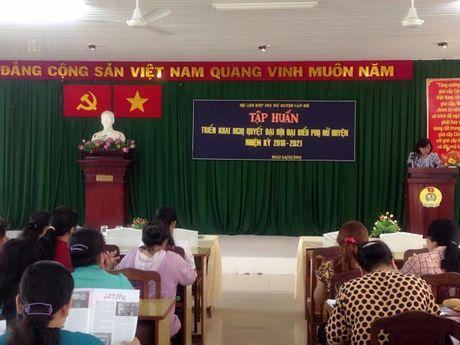 H. Can Gio: trien khai Nghi quyet Dai Hoi Phu nu huyen - Anh 1