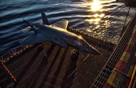 Hoanh trang tau do bo LHA-6 cho 12 tiem kich F-35B - Anh 6