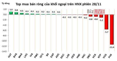 Phien 28/11: Xa hang dong loat ca co phieu bluechips lan co phieu dau co - Anh 2