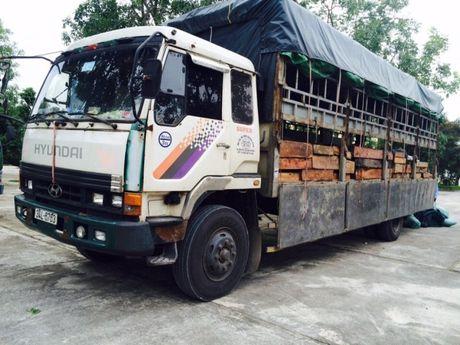 Thanh Hoa: CSGT bat giu 6,4 met khoi go quy van chuyen trai phep - Anh 1