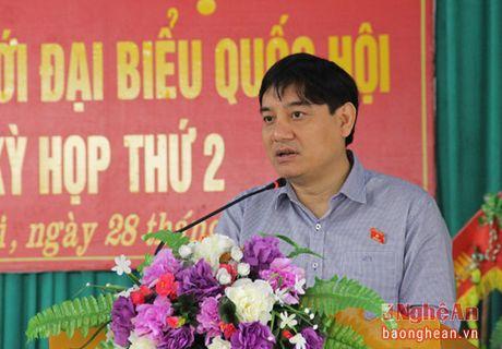 Bi thu Tinh uy Nguyen Dac Vinh tiep xuc cu tri tai Thi xa Hoang Mai - Anh 1