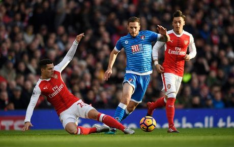Chum anh: Ha Bournemouth, Arsenal xay chac vi tri top 4 Premier League - Anh 1