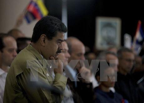 Tong thong Venezuela va Bolivia se tham du le tang lanh tu Fidel - Anh 1