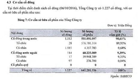 Nha dau tu nho le trong nuoc chi nam giu von ven 6,54 trieu co phieu Sabeco, tuong duong 1% von dieu le - Anh 1