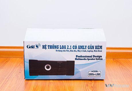 Danh gia phien ban loa GoldSound G551s-USB moi: nang cap manh ve bass - Anh 1