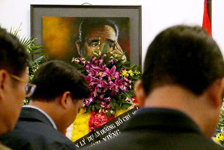 Nuoc mat va hoa vieng Fidel Castro o Ha Noi - Anh 5