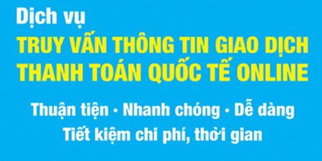 Truy van thong tin giao dich thanh toan quoc te online - Anh 1
