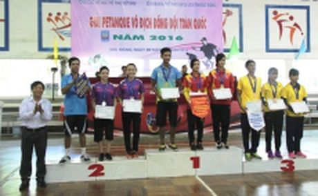Be mac giai Petanque vo dich dong doi toan quoc - Anh 1