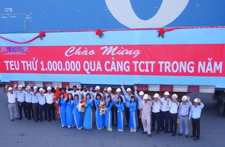 Cang quoc te Tan Cang – Cai Mep: Lan dau vuot moc 1 trieu TEU thong qua cang - Anh 1