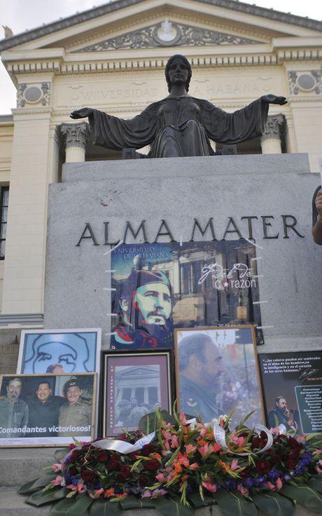 Nguoi Cuba roi nuoc mat xep hang vieng lanh tu Fidel Castro - Anh 11