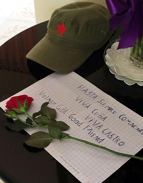 Xuc dong le vieng lanh tu Fidel Castro Ruz tai Ha Noi, TP HCM - Anh 13