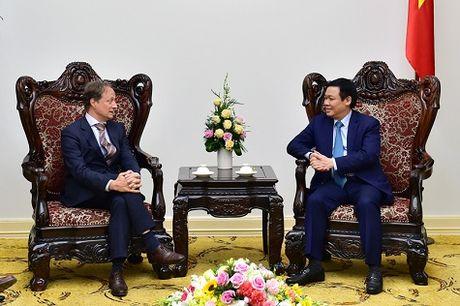 Pho Thu tuong Vuong Dinh Hue tiep Dai su EU tai Viet Nam - Anh 1