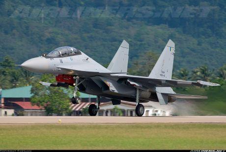 Muc kich F-22, Su-30MKM tap tran hoanh trang o Malaysia - Anh 8