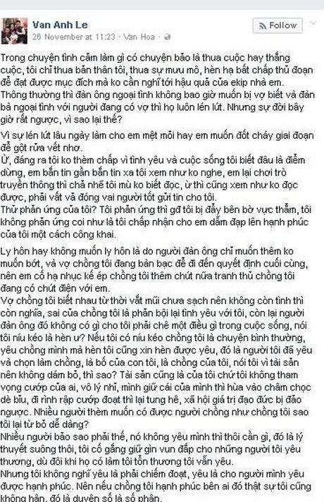 Vo dai gia Chu Dang Khoa viet 'tam thu' gui Ha Ho - Anh 2