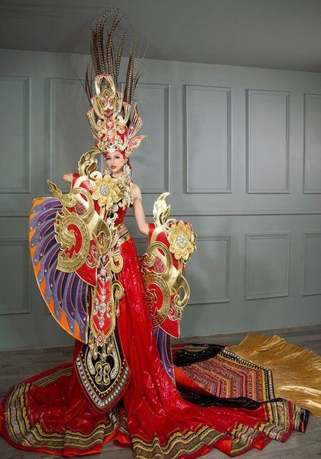 Dan mang xon xao vi Kha Trang dien vay 'Sen vang Viet Nam' nang 45 kg - Anh 1