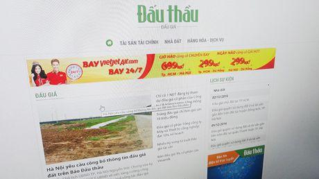Ha Noi yeu cau cong bo thong tin dau gia dat tren Bao Dau thau - Anh 1