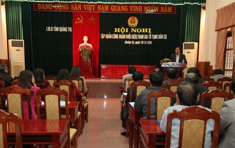 LDLD tinh Quang Tri: Tap huan Cong doan khoi kien, tham gia to tung dan su - Anh 1