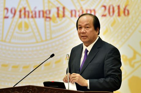 Bo truong Mai Tien Dung: 'Chi co CNTT moi giam sat can bo tot duoc' - Anh 1