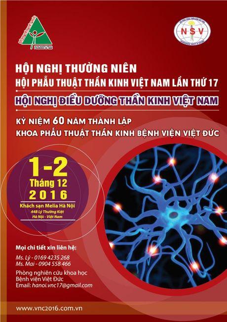 Tu ngay 1-2/12: Hoi nghi Phau thuat than kinh Viet Nam lan thu 17 - Anh 1