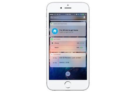 Cach thuc hien cuoc goi ngay tren man hinh khoa voi iOS 10 - Anh 1