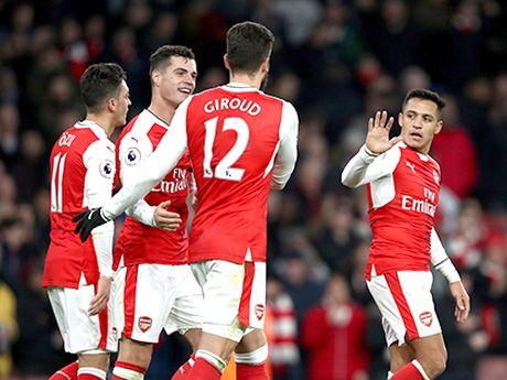 Arsenal khi vang Cazorla: Wenger cu manh dan tin tuong cap Xhaka - Ramsey - Anh 1
