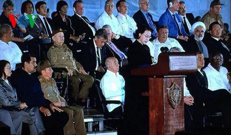 Chu tich Quoc hoi phat bieu tuong niem Lanh tu Cuba Fidel Castro - Anh 1
