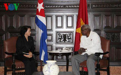 Chu tich Quoc hoi Nguyen Thi Kim Ngan hoi kien Chu tich Quoc hoi Cuba - Anh 1