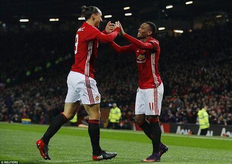 Man United 4-1 West Ham: Cu dup cua Ibrahimovic, Martial...va Mkhitaryan - Anh 1