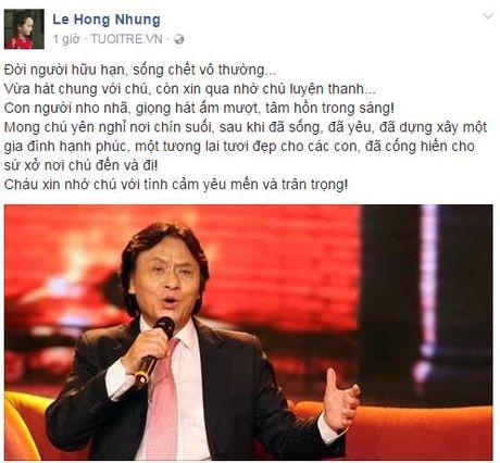 Nghe si Viet tiec thuong truoc su ra di cua NSUT Quang Ly - Anh 1