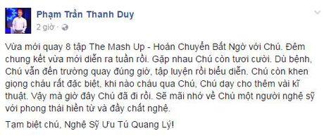 Nghe si Viet tiec thuong truoc su ra di cua NSUT Quang Ly - Anh 4