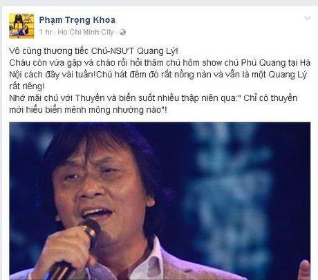 Gioi nghe si Viet tiec thuong truoc su ra di cua NSUT Quang Ly - Anh 6