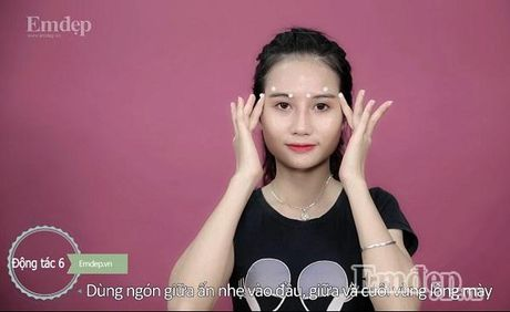 6 dong tac massage thu gian co mat, chong lao hoa - Anh 8