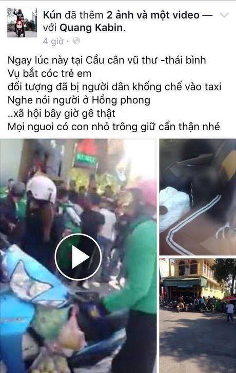 Thai Binh: Thuc hu thong tin bat coc tre em gay xon xao tren Facebook - Anh 1