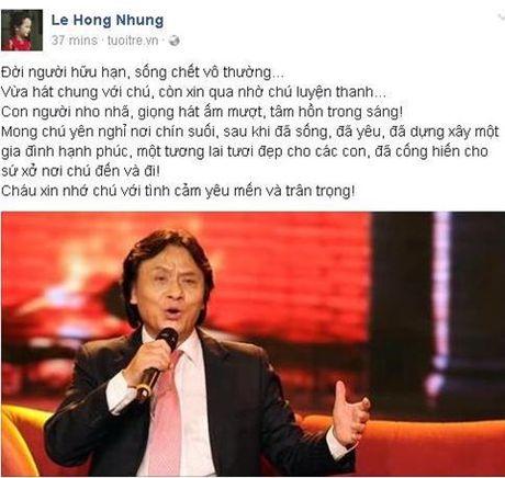 Nghe si Viet bang hoang truoc tin NSUT Quang Ly dot ngot qua doi - Anh 3