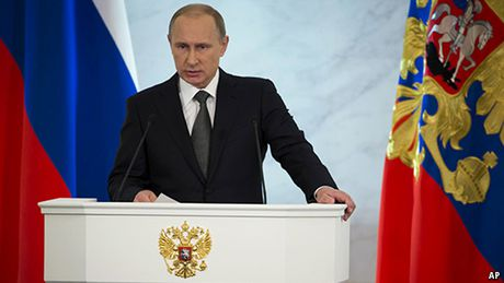 Ong Putin doc thong diep lien bang: Nga se tiep tuc qua trinh dan chu - Anh 1