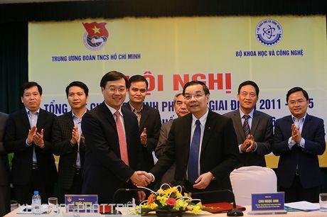 Bo KH&CN va Trung uong Doan ky ket chuong trinh hop tac - Anh 1