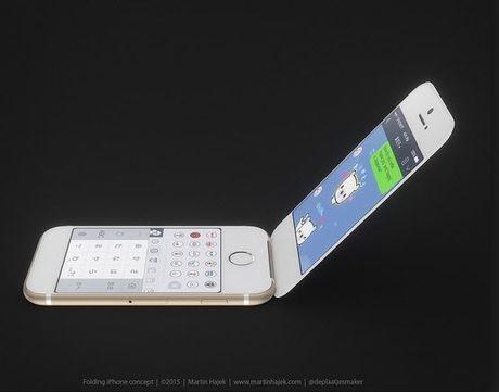 Bat ngo voi iPhone nap gap, man hinh cong - Anh 1