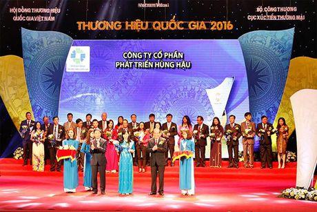Hung Hau duoc vinh danh tai Le Cong bo cac Doanh nghiep dat Thuong hieu Quoc gia 2016 - Anh 1