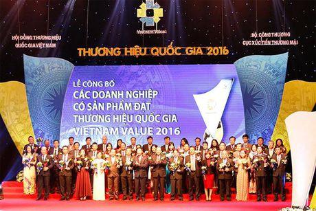 Hung Hau duoc vinh danh tai Le Cong bo cac Doanh nghiep dat Thuong hieu Quoc gia 2016 - Anh 2