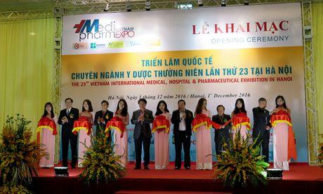 Vietnam Medi Pharm Expo 2016 chung kien nhieu thanh tuu y hoc cua Viet Nam va the gioi - Anh 1