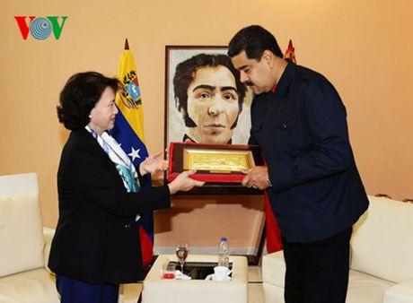 Chu tich Quoc hoi Nguyen Thi Kim Ngan hoi kien Tong thong Venezuela - Anh 2