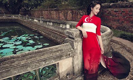 Mai Thu Huyen gay an tuong voi ao dai hoa tiet di san - Anh 3