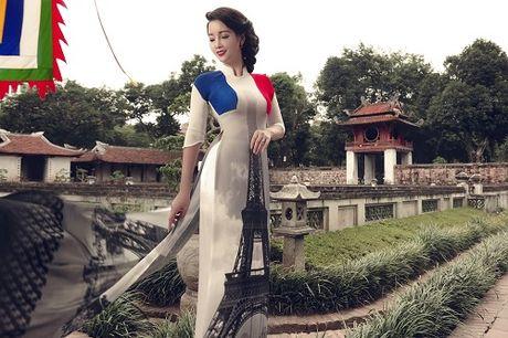 Mai Thu Huyen gay an tuong voi ao dai hoa tiet di san - Anh 4