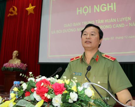 Hoi nghi giao ban Trung tam huan luyen va boi duong nghiep vu trong CAND - Anh 1