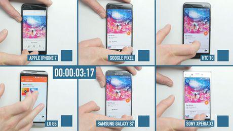 Cuoc dua toc do cua 6 flagship: iPhone 7 vuot troi - Anh 1