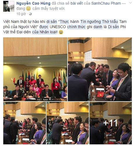Cong dong mang vo oa truoc tin vui tin nguong tho Mau chinh thuc duoc vinh danh Di san cua nhan loai - Anh 2
